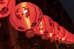 Lanterna chinesa com o significado das palavras luchky e o sucesso no festival chinês do ano novo como decorações foto de stock royalty free