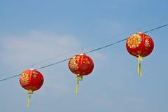 Lanterna chinesa de papel vermelha Fotografia de Stock Royalty Free