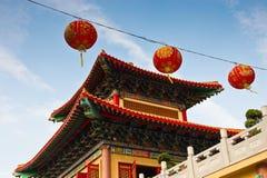Lanterna chinesa de papel vermelha Fotografia de Stock