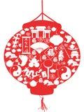 Lanterna chinesa do ano novo Foto de Stock Royalty Free