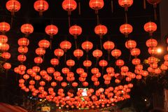 Lanterna chinesa na rua Fotos de Stock