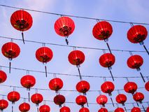 Lanterna chinesa vermelha Foto de Stock Royalty Free