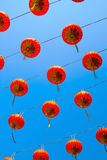 Lanterna chinesa vermelha no ano chinês feliz Imagens de Stock Royalty Free