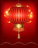 Lanterna chinesa vermelha tradicional Imagens de Stock Royalty Free