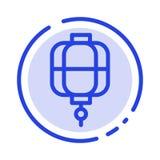 Lanterna, Cina, cinese, linea punteggiata blu linea icona della decorazione illustrazione vettoriale
