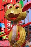 Lanterna cinese del serpente dello zodiaco Fotografia Stock
