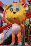 Lanterna cinese della scimmia dello zodiaco Fotografia Stock Libera da Diritti