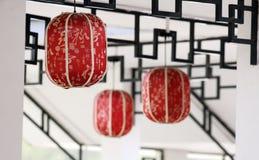 Lanterna cinese di arte Immagini Stock Libere da Diritti