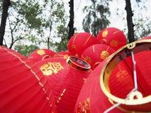 Lanterna cinese durante il nuovo anno cinese del ` s fotografie stock