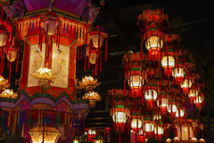 Lanterna cinese rossa fotografia stock libera da diritti