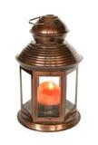 Lanterna con la candela immagini stock