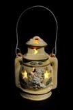 Lanterna con la candela Fotografia Stock