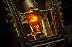 Lanterna d'annata della lampadina Immagini Stock