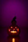 Lanterna d'ardore della zucca di Halloween Fotografie Stock