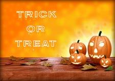 Lanterna da abóbora de Halloween Truque ou deleite Fotografia de Stock Royalty Free