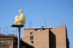 Lanterna da estátua da arte moderna Imagens de Stock Royalty Free