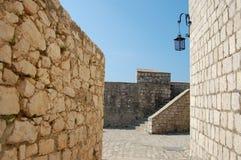 Lanterna da fortaleza de Hvar Imagens de Stock Royalty Free