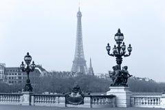 Lanterna da rua na ponte de Alexandre III. Fotografia de Stock Royalty Free