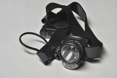 Lanterna de escalada da cabeça do diodo emissor de luz Foto de Stock