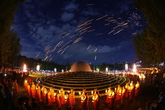 Lanterna de flutuação Mae Jo, Chiangmai, Tailândia Imagem de Stock Royalty Free