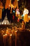 Lanterna de flutuação Wat Phan Tao Fotos de Stock Royalty Free