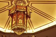 Lanterna de madeira chinesa Fotografia de Stock Royalty Free