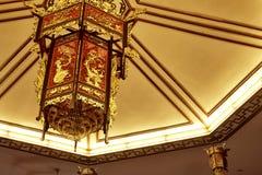 Lanterna de madeira chinesa Fotos de Stock