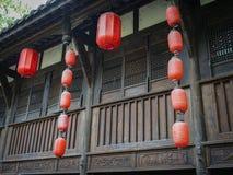 Lanterna de papel chinesa com cor vermelha fotos de stock royalty free