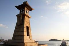 Lanterna de pedra em Tomonoura foto de stock royalty free
