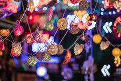 Lanterna decorativa Colourful del LED Fuoco selettivo immagine stock
