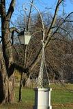 Lanterna decorativa nel parco Immagini Stock Libere da Diritti