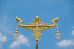 Lanterna dei Nagas nel colore dell'oro Fotografie Stock