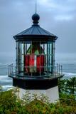 Lanterna del faro di Meares del capo, Oregon fotografia stock libera da diritti