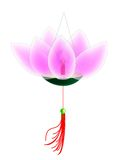 Lanterna del fiore di loto Immagini Stock