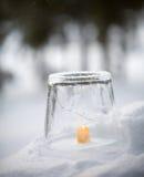 Lanterna del ghiaccio fotografia stock
