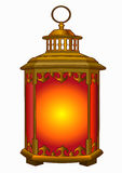 Lanterna del metallo vecchia Immagini Stock Libere da Diritti