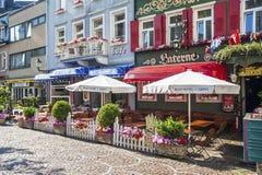 Lanterna del ristorante nell'area pedonale in Baden-Baden Fotografia Stock