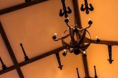 Lanterna della candela con la decorazione d'annata immagini stock libere da diritti