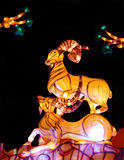 Lanterna della capra nella celebrazione lunare 2015 del nuovo anno Fotografie Stock Libere da Diritti