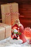 Lanterna della decorazione di Natale immagini stock libere da diritti