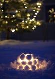 Lanterna della neve Fotografie Stock