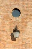 Lanterna della parete e finestra leggere del cerchio Immagine Stock Libera da Diritti
