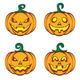 Lanterna della presa della zucca del fumetto di Halloween Fotografia Stock