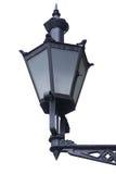 Lanterna della via di vecchio stile isolata su bianco Fotografia Stock
