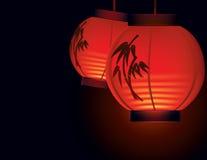 Lanterna di carta cinese Fotografia Stock
