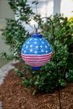 Lanterna di carta della bandiera americana Immagine Stock