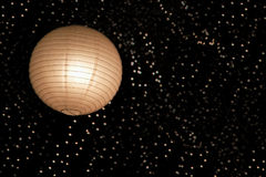 Lanterna di carta ed indicatori luminosi asiatici Immagine Stock