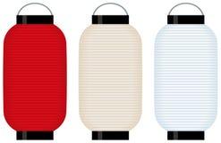 Lanterna di carta tenuta in mano (grande) illustrazione vettoriale
