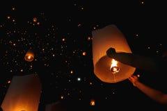 Lanterna di galleggiamento Fotografia Stock