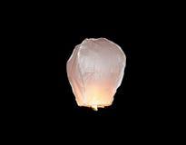 Lanterna di galleggiamento bianca del cielo Fotografia Stock Libera da Diritti